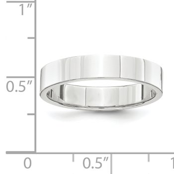 Platinum 4mm Flat Size 10 Wedding Band