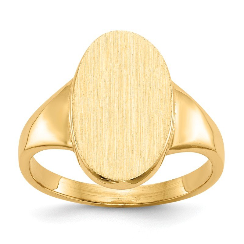 Quality Gold 14k 14.5x9.0mm Closed Back Signet Ring