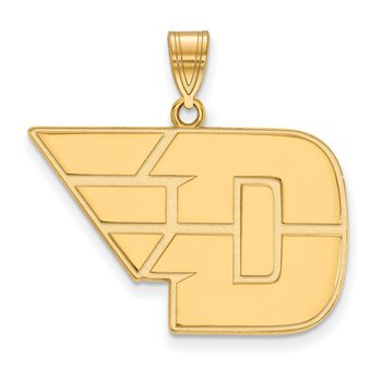 Gold-Plated Sterling Silver University of Dayton NCAA Pendant