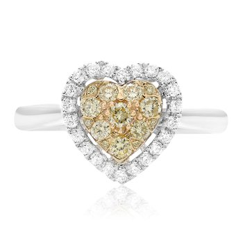 Heart Diamond Cluster Ring
