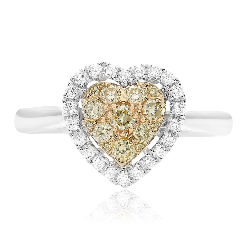 Roman & Jules Heart Diamond Cluster Ring