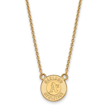 Gold-Plated Sterling Silver Oakland Athletics MLB Necklace