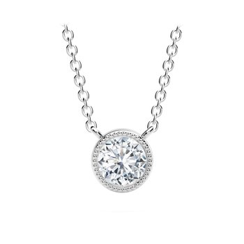 The Forevermark Tribute™ Collection Round Milgrain Bezel Pendant