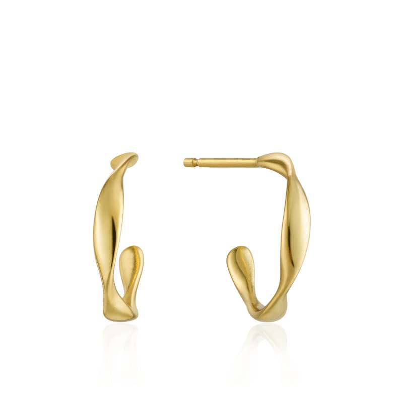 Ania Haie Twist Mini Hoop Earrings