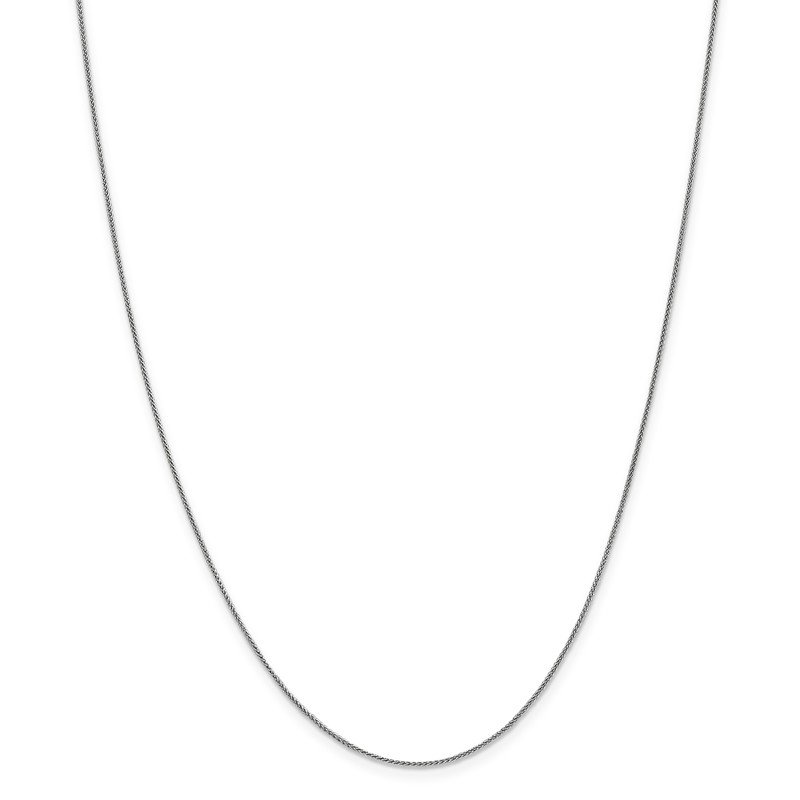 Leslie's Leslie's 14K White Gold .8mm Baby Spiga (Wheat) Chain