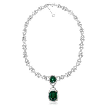 Ornate Emerald & Diamond Necklace