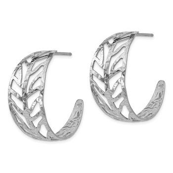 Leslie's SS Rhodium-plated Fancy Earrings