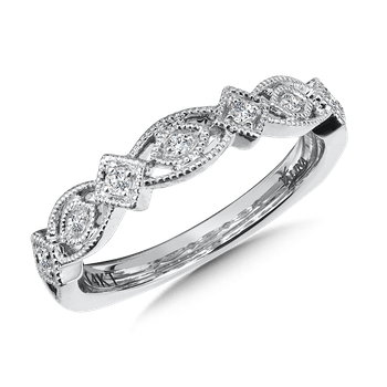Stackable Wedding Band in 14K White Gold (.10 ct. tw.)