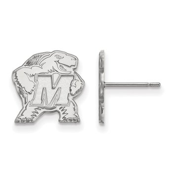Gold University of Maryland NCAA Earrings