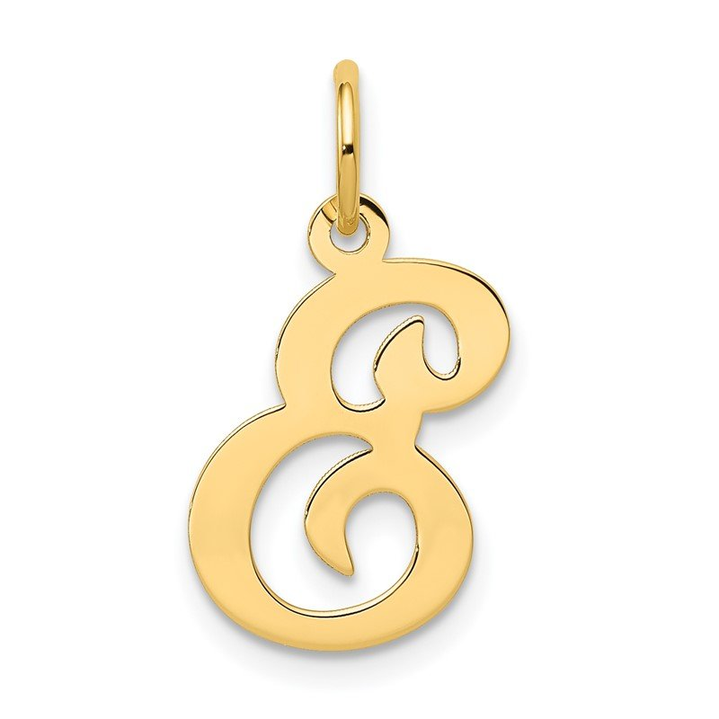Quality Gold 14KY Script Letter E Initial Charm