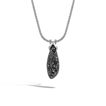 Asli Classic Chain Link Pendant Necklace in Silver, Gemstone