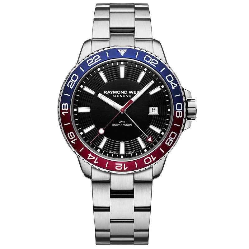 Raymond Weil Tango 300 GMT Blue Red Quartz Diver Watch