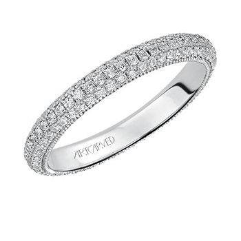 14K White Gold Eternity Diamond Wedding Band