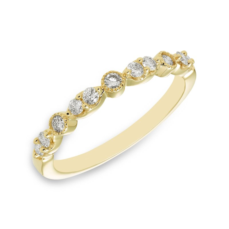 Victor Yellow gold & diamond vintage-inspired wedding band