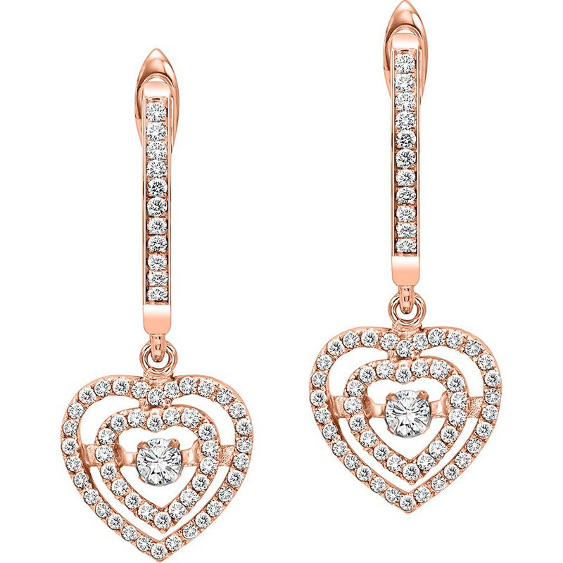 Rhythm of Love 14KP Diamond Rhythm Of Love Earrings 1/2 ctw