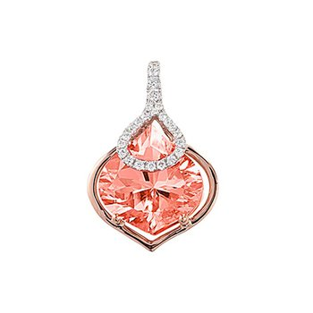 Champagne Sapphire Pendant-CP3895RCS
