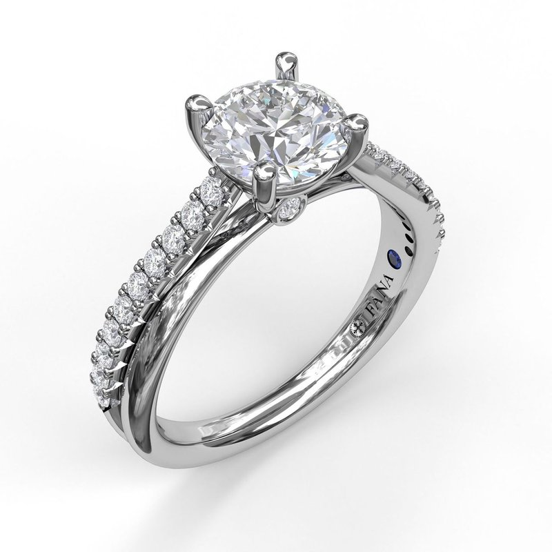 Fana Round Cut Solitaire With Criss Cross Band