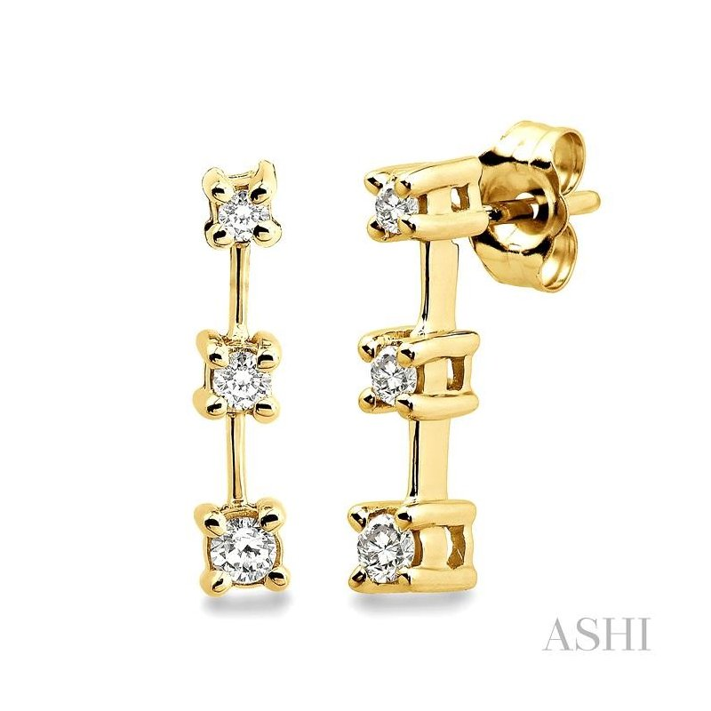 ASHI past present & future diamond earrings