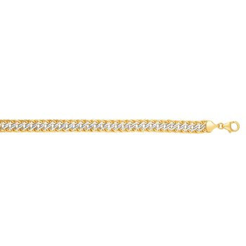 14K Two-tone Gold Reversible Bracelet