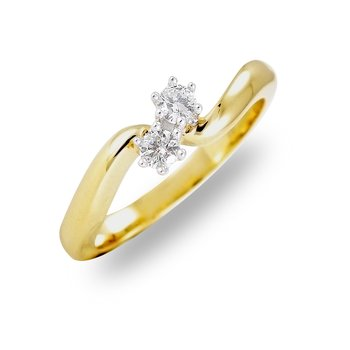 14K YG Diamond Accent Ring