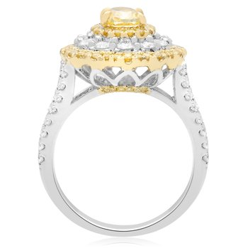 Flowering Fancy Yellow Diamond Ring