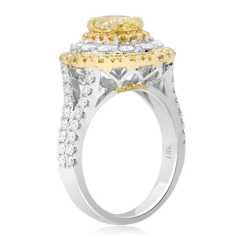 Roman & Jules Flowering Fancy Yellow Diamond Ring