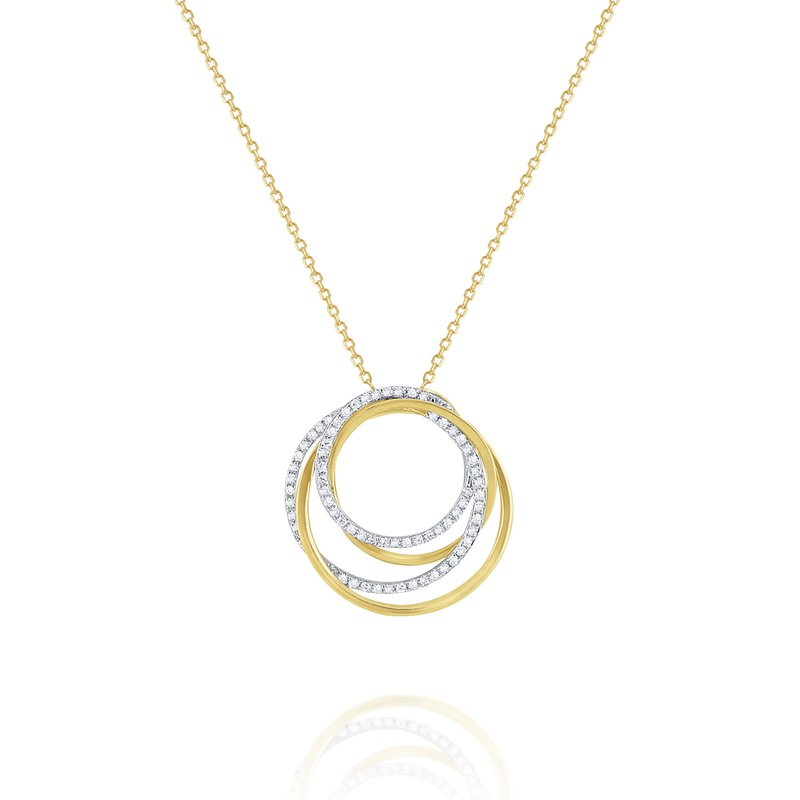 KC Designs Diamond Intertwined Circular Pendant Set in 14 Kt. Gold