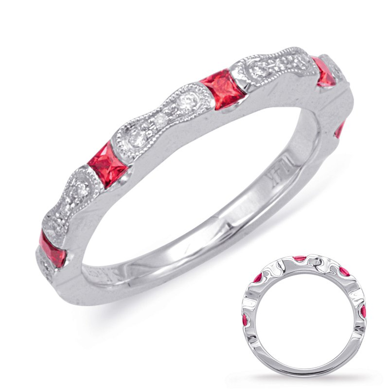Briana White Gold Ruby & Diamond Ring