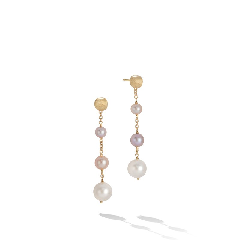 Marco Bicego Marco Bicego® Africa Pearl Collection 18K Yellow Gold and Pearl Drop Earrings