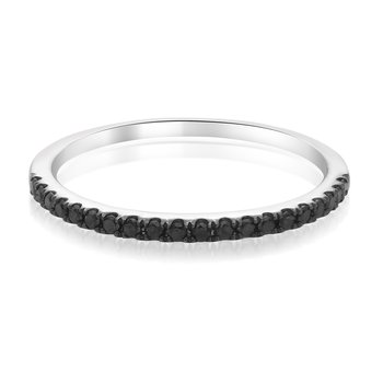 Half Pave Black Diamond Band