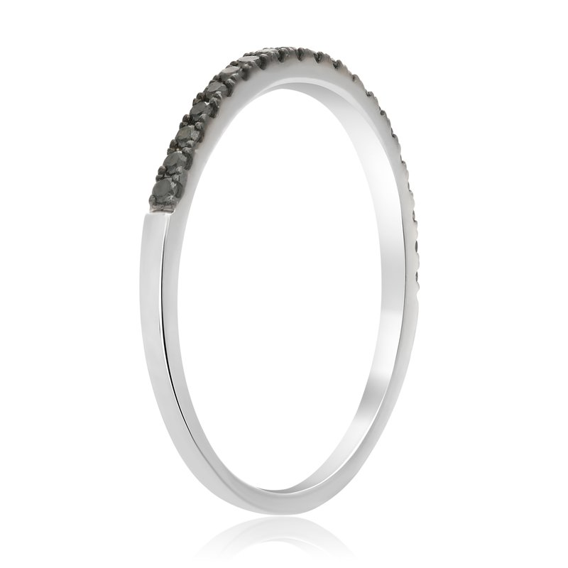 Roman & Jules Half Pave Black Diamond Band