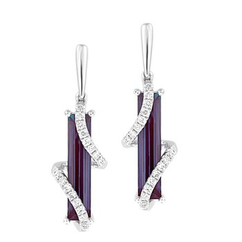 Alexandrite Earrings-CE4383WAL