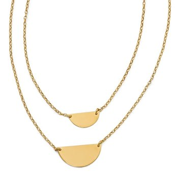 Leslie's Sterling Silver Gold-tone w/1in ext. Necklace