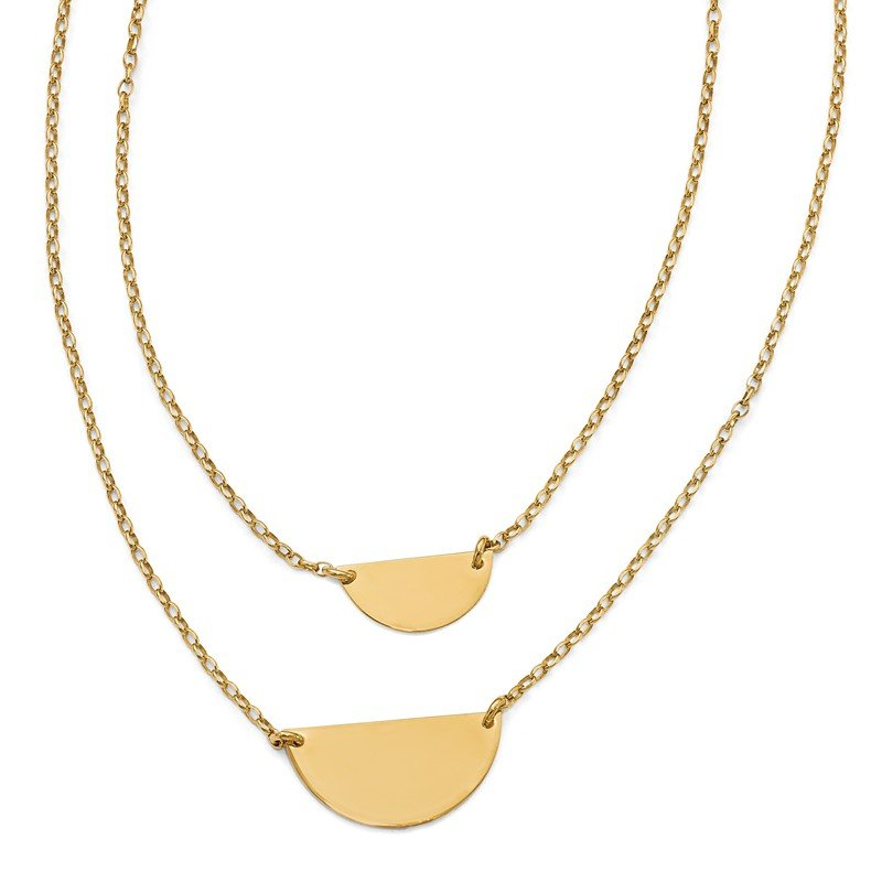 Leslie's Leslie's Sterling Silver Gold-tone w/1in ext. Necklace