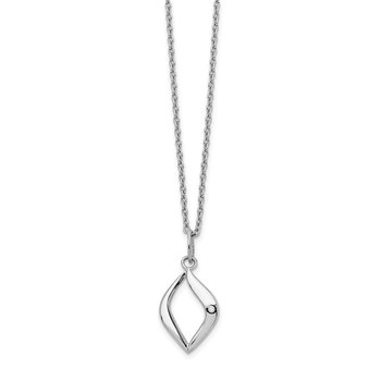 SS White Ice .01ct Diamond Necklace