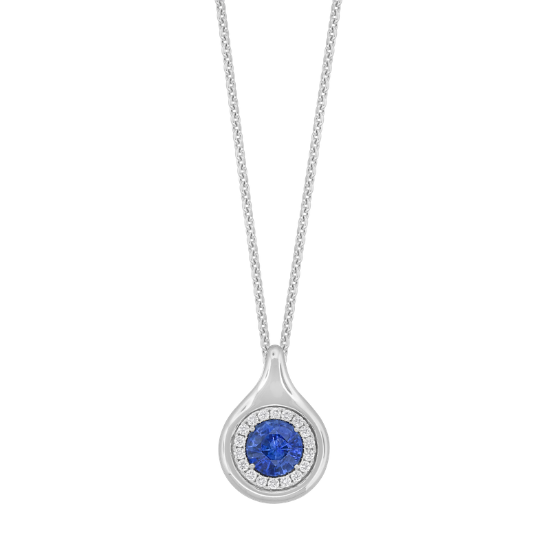 Spark Creations Sapphire & Diamond Necklace