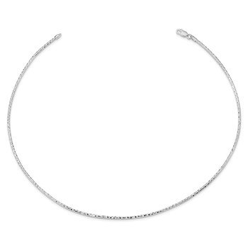 Sterling Silver Polished D/C 2mm Neckwire