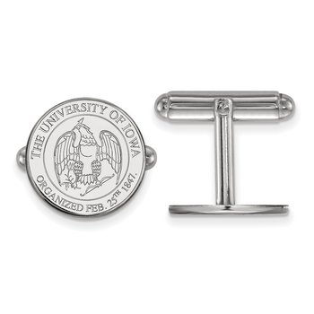 Sterling Silver University of Iowa NCAA Cuff Links