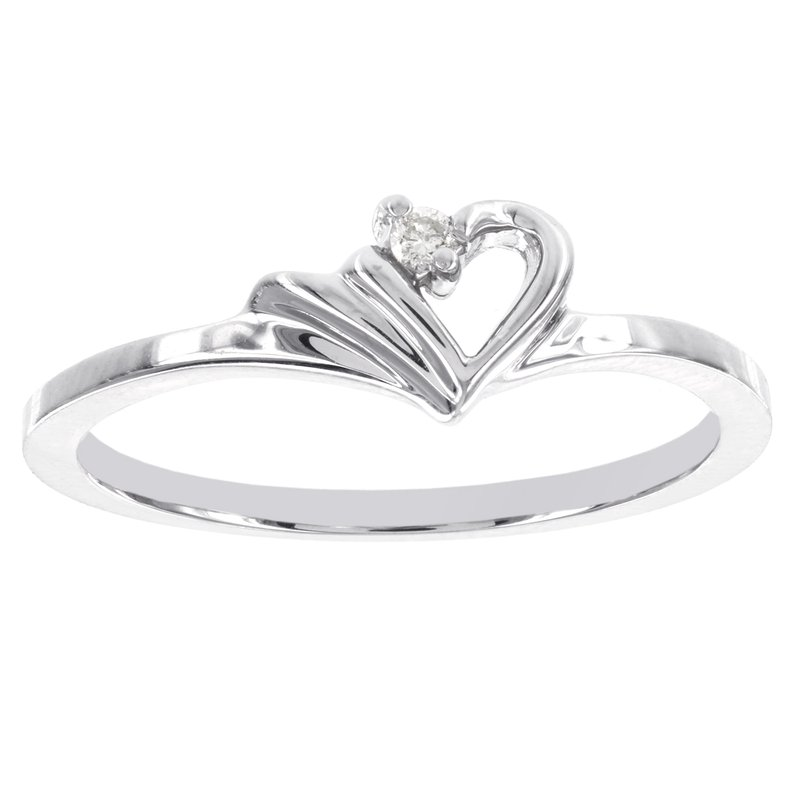 Moody's Signature 14k White Gold Diamond Accent Heart-shaped Promise Ring