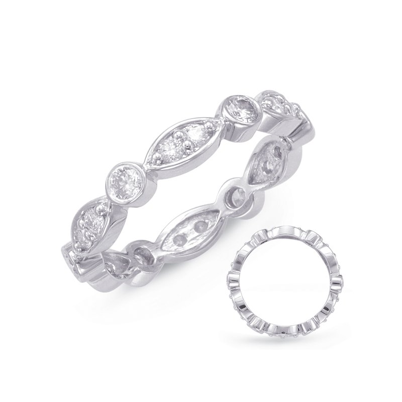 S. Kashi & Sons Bridal White Gold Stackable Eternity Band