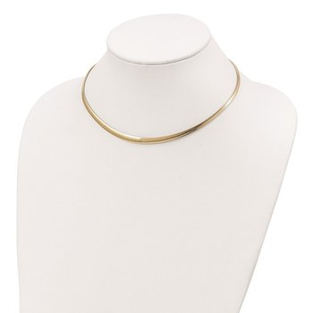 Sterling Silver Gold-tone RH-pltd 3-6mm Reversible Cubetto Necklace
