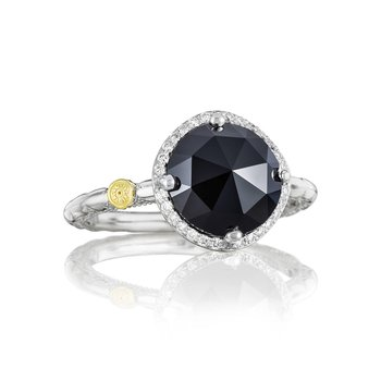 Pavé Simply Gem Ring featuring Black Onyx