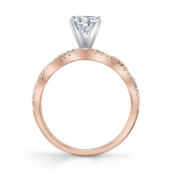 MARS 27221 Diamond Engagement Ring, 0.18 Ctw.