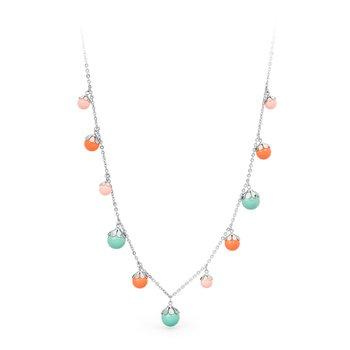 316L stainless steel and coloured Swarovski® Elements pearls