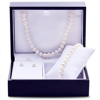 14K Yellow Gold Freshwater Pearl Set
