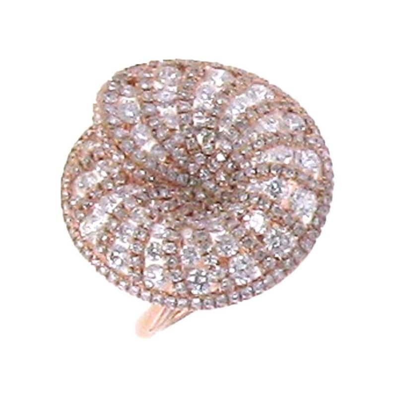 Roberto Coin 18Kt Rose Gold Diamond Ring