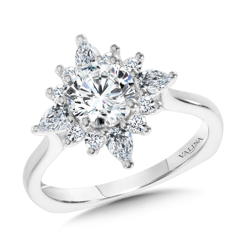 Valina Bridals Star Halo Diamond Engagement Ring