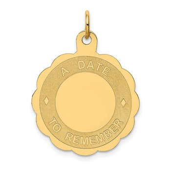 14K A DATE TO REMEMBER Disc Charm