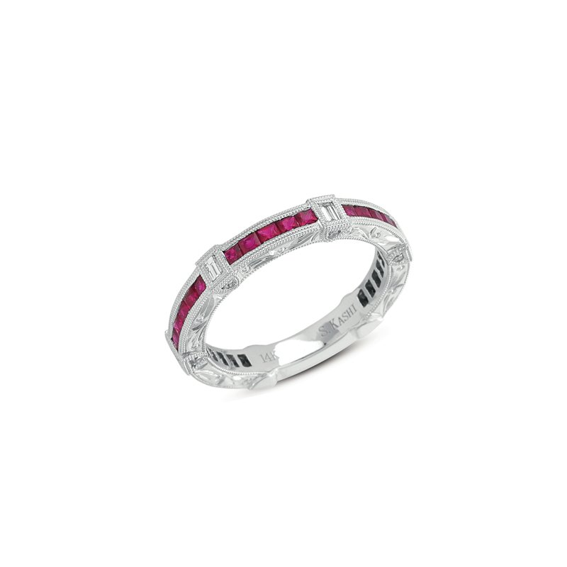 S. Kashi  & Sons Ruby & Diamond Band