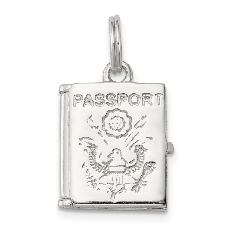 Quality Gold Sterling Silver Passport Charm